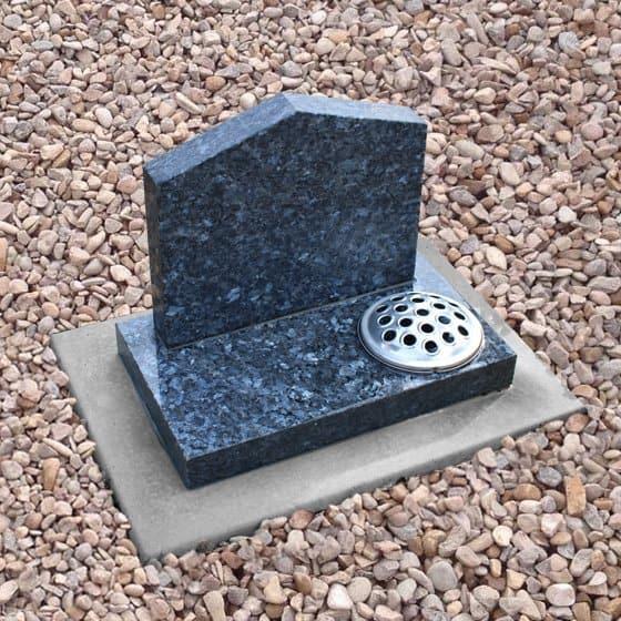 Blue pearl peon cremation memorial