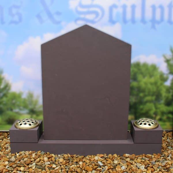 Heather slate memorial