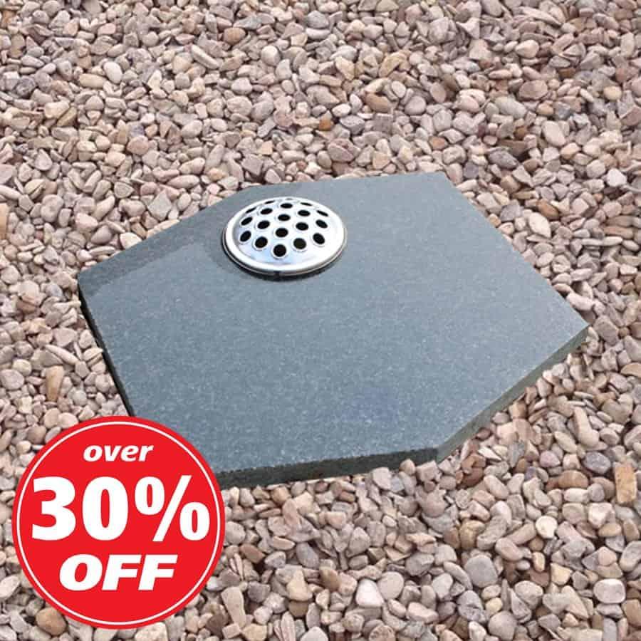 Dark grey hexagon plaque