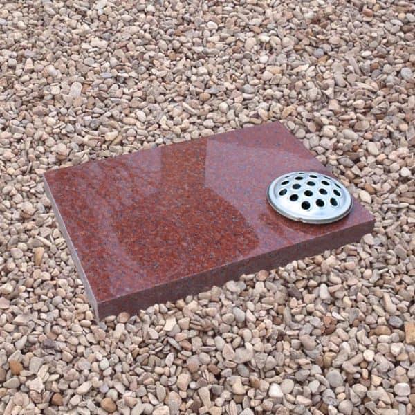 Red granite plaque