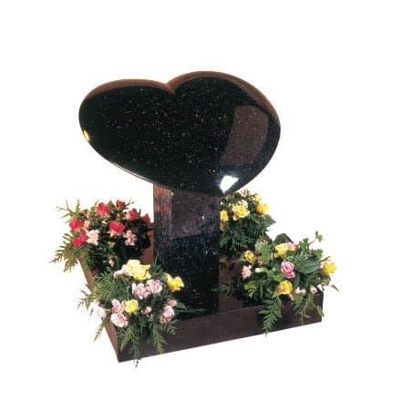 Star Galaxy granite heart with rounded edges