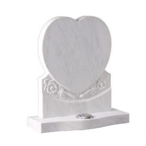 Nabresina Stone with heart and engraved flowers