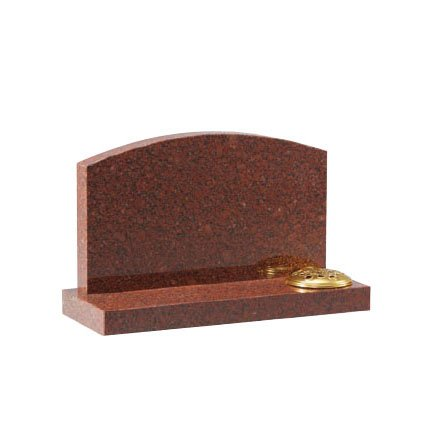 Ruby Red granite with arc top and flower container