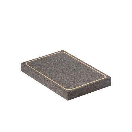 Dark Grey granite with gilded scalloped pin line