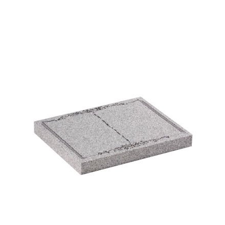 Cornish Grey granite with delicate book and flower design