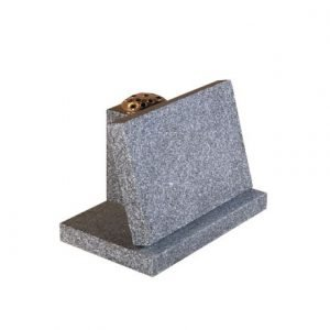 Light Grey granite with flower vase rest