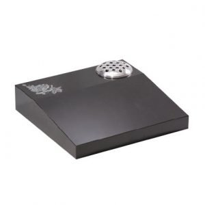 Black granite desk with rose ornament
