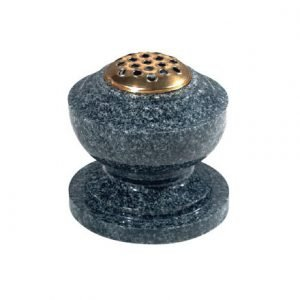 Dark grey granite, bowl vase