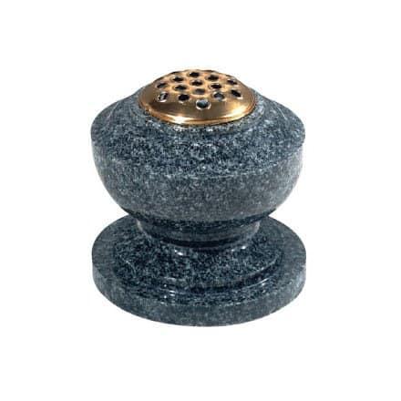 Dark grey granite, bowl vase