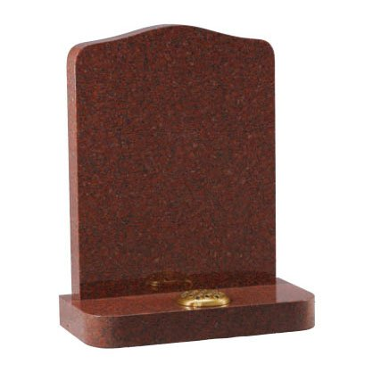 Ruby Red granite with rounded shoulders