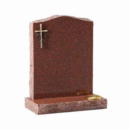 Ruby Red granite with optional bronze cross ornamentation