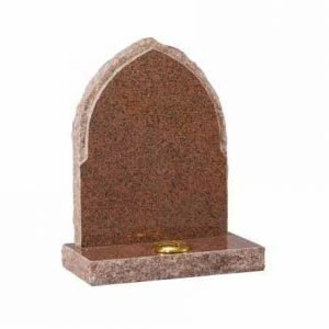Balmoral Red granite with pointed top and pitches sides