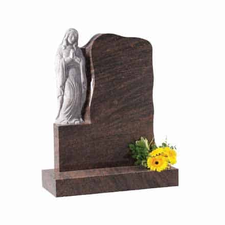 Twilight Red Granite 'Our Lady' Lawn Memorial