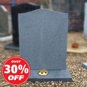 Grey Granite Ogee Top Lawn Memorial
