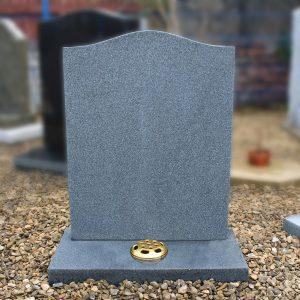 Grey Granite Ogee Top Lawn Memorial