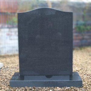 Black Granite Ogee Top Lawn Memorial