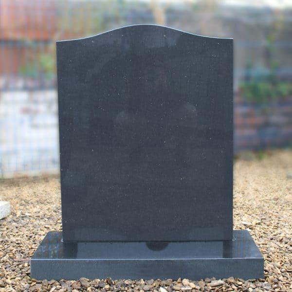 Black Granite Ogee Top Lawn Memorial