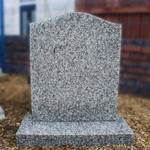 Grey Granite Ogee Lawn Memorial