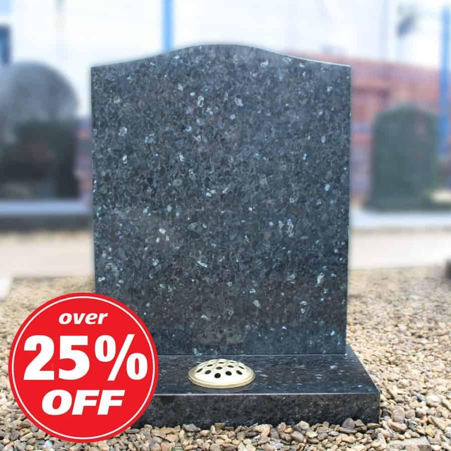 Blue Pearl Granite Ogee Headstone