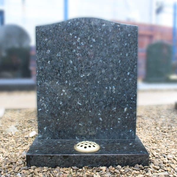 Blue Pearl Granite Ogee Headstone