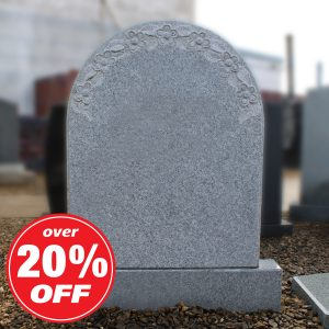 Light Grey Granite Arch Top Headstone