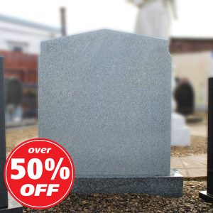 Large Grey Peon Top Headstone
