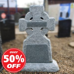 Celtic Cross Rustic Headstone