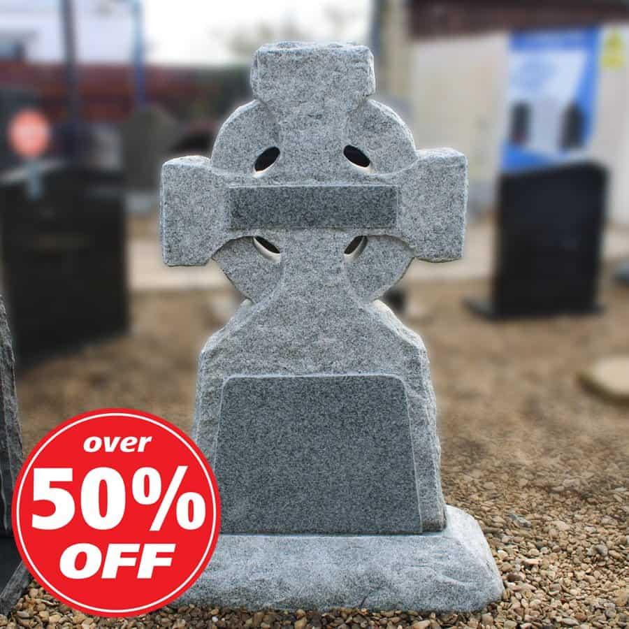 Celtic Cross Rustic Headstone