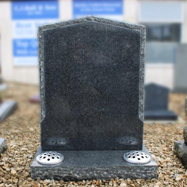 Dark grey peon top memorial
