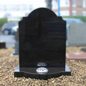 Polished Black Granite Colby Headstone