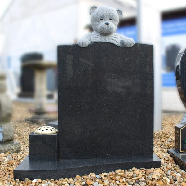 Dark grey teddy memorial
