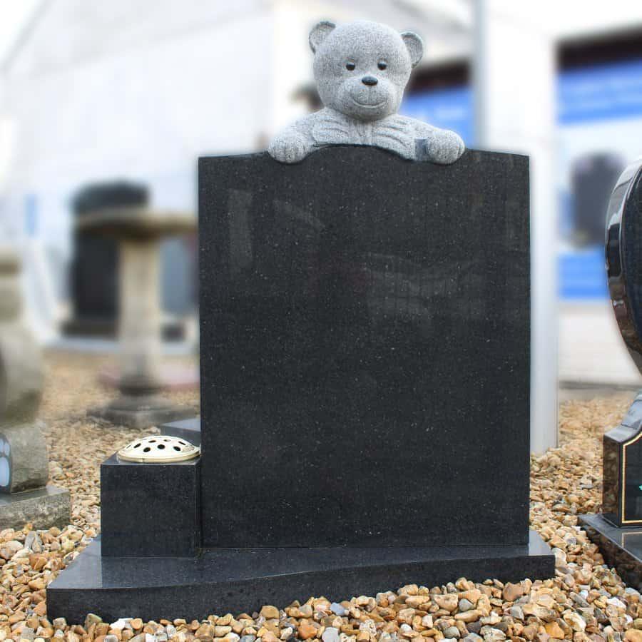 Dark grey teddy memorial