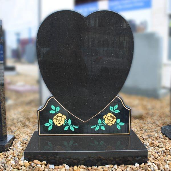 Heart and roses memorial