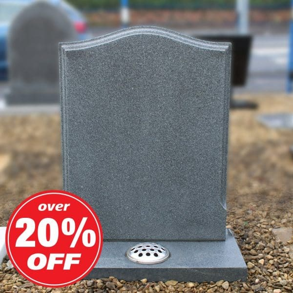 Ogee Granite Headstone with Flower Container