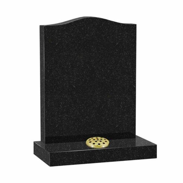 Plain Black Granite Ogee Memorial
