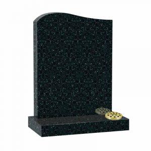 Emerald pearl granite half ogee top lawn memorial