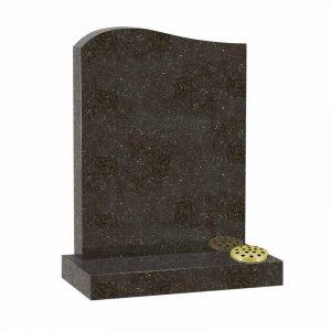 Star Galaxy granite half ogee top lawn memorial